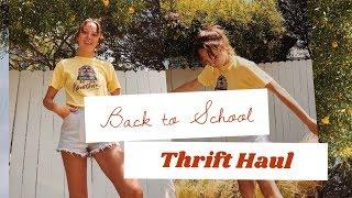 Back to School Thrift Haul