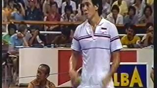 1984 Thomas Cup Final Classic set 3 -Luan Jin vs Liem Swie King pt 2 of 2 Finale