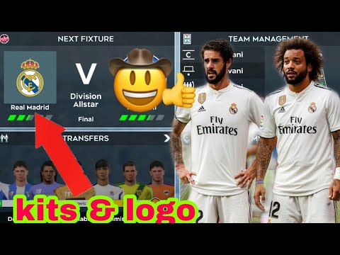 How To Create Real Madrid 2019 Team Kits & Logo | Dream League Soccer 2019.