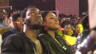 Yvonne Nelson and Ivorian boyfriend Attend the  4syte Music Video Awards