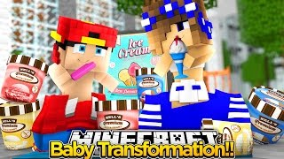 Minecraft Adventure - LITTLE CARLY & ROPO TRANSFORM INTO BABIES!!
