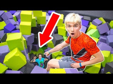 HE WAS HIDING AT THE TRAMPOLINE PARK!!