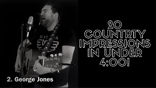 20 country music impressions in under 4 minutes