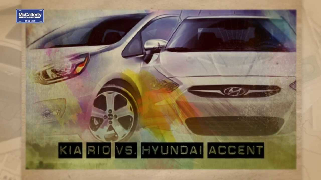 kia rio vs hyundai accent youtube. Black Bedroom Furniture Sets. Home Design Ideas