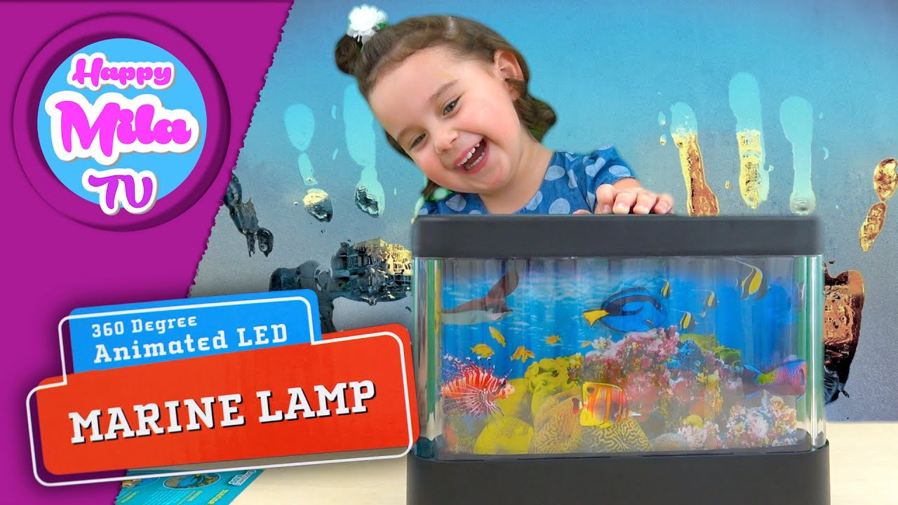 Attractive How To Install Aquarium Discovery Kids 360 Degree Animated Led Marine Lamp  | HappyMilaTV #96