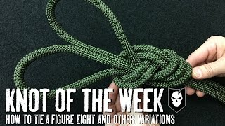 How to Tie a Figure-8, Threaded Figure-8 and Figure-8 on a Bight - ITS Knot of the Week HD