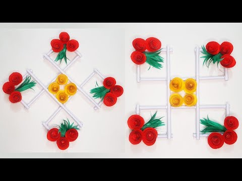 diy-:-paper-flower-wall-hanging-/-beautiful-origami-home-decoration-/-wall-decor-ideas-||