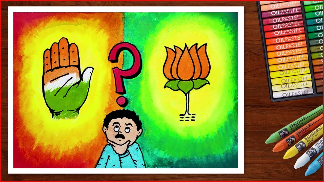 India Elections Poster Drawing Matdata Jagrukta Poster Drawing Easy Youtube