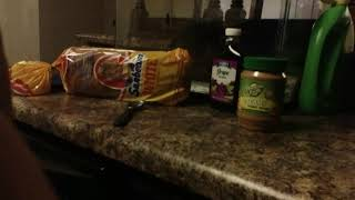 How to make a peanut butter jelly sandwich \ house vlog