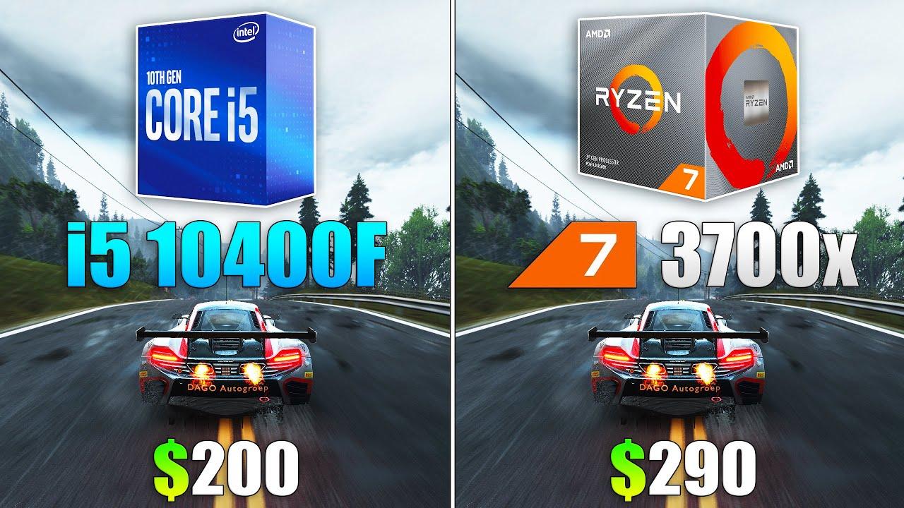 i5 10400F vs Ryzen 7 3700x Test in 9 Games