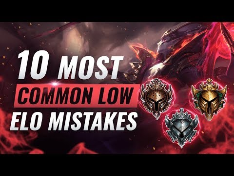 10 GAME LOSING Mistakes That EVERY Low Elo Player Makes - League of Legends Season 10