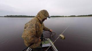 Судак и щука. Рыбалка в июне на оз. Рушена.