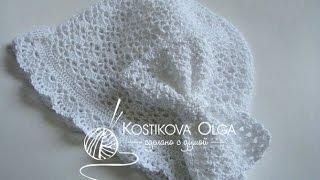 Бант крючком. Мастер-класс.  How to Crochet a Bow. Tutorial
