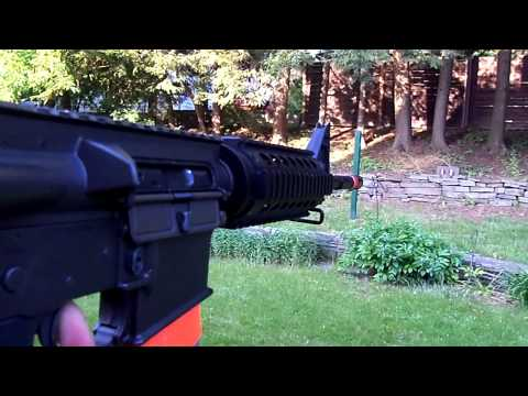 King Arms gbb m4 shooting test