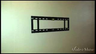 Tv wall mounting with components shelf