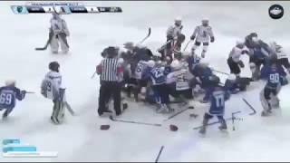 Комментатор от бога | Массовая драка детских команд по хоккею