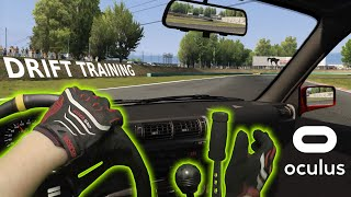 😎 Public Drift Practice with FLY-OFF Handbrake - Oculus VR / Assetto Corsa MIXED REALITY gameplay