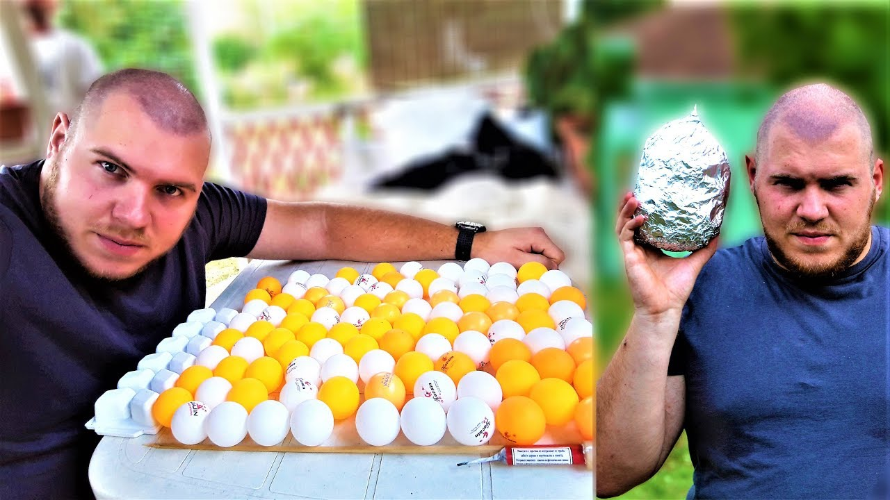 Smoke bomb with 100 table tennis balls fail youtube for 100 table tennis balls