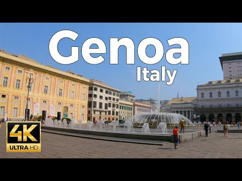 Genoa, Italy Walking Tour (4k Ultra HD 60fps)