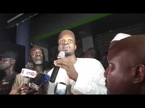 Revivez la déclaration de Ousmane Sonko sur l'affaire des