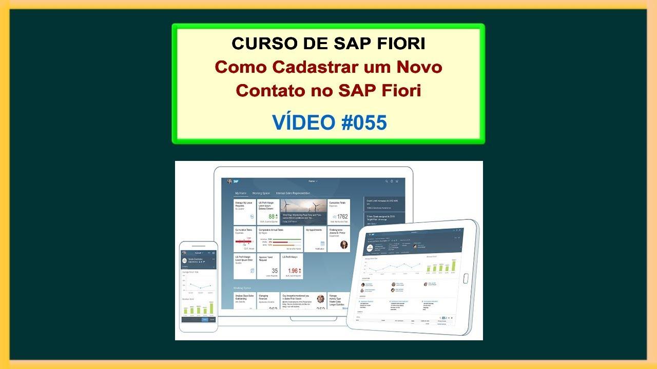 Vídeo 055 - Curso Grátis de SAP Fiori - Aula 04 - Como Cadastrar um Contato  no SAP Fiori
