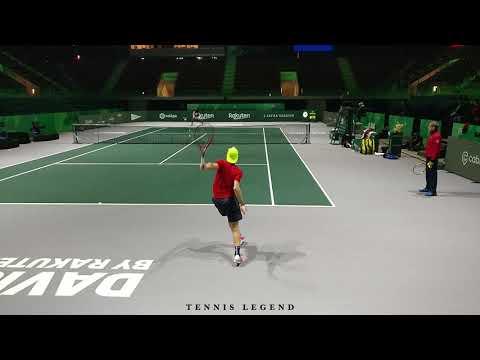 Denis Shapovalov - Explosive and loose (Davis Cup Finals 2019 Practice)