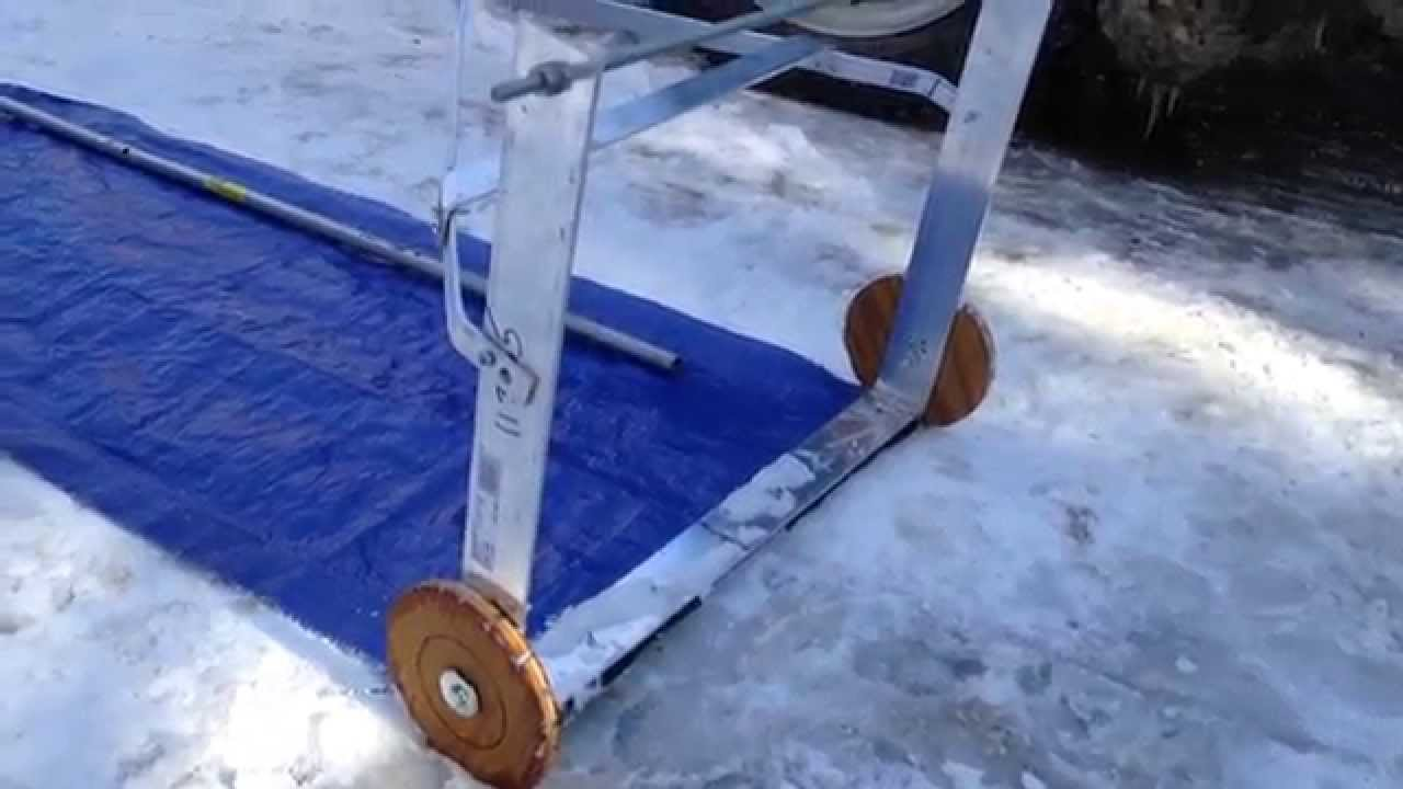 Home Made Snow Rake Youtube