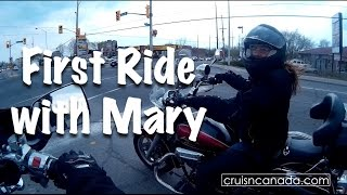 first motorcycle ride with mary
