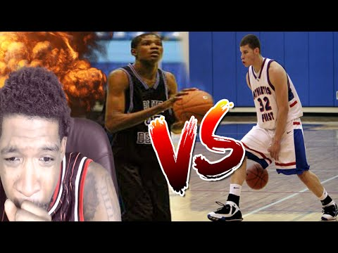 OMGGGG!! KEVIN DURANT VS BLAKE GRIFFIN IN HIGH SCHOOL REACTION!!