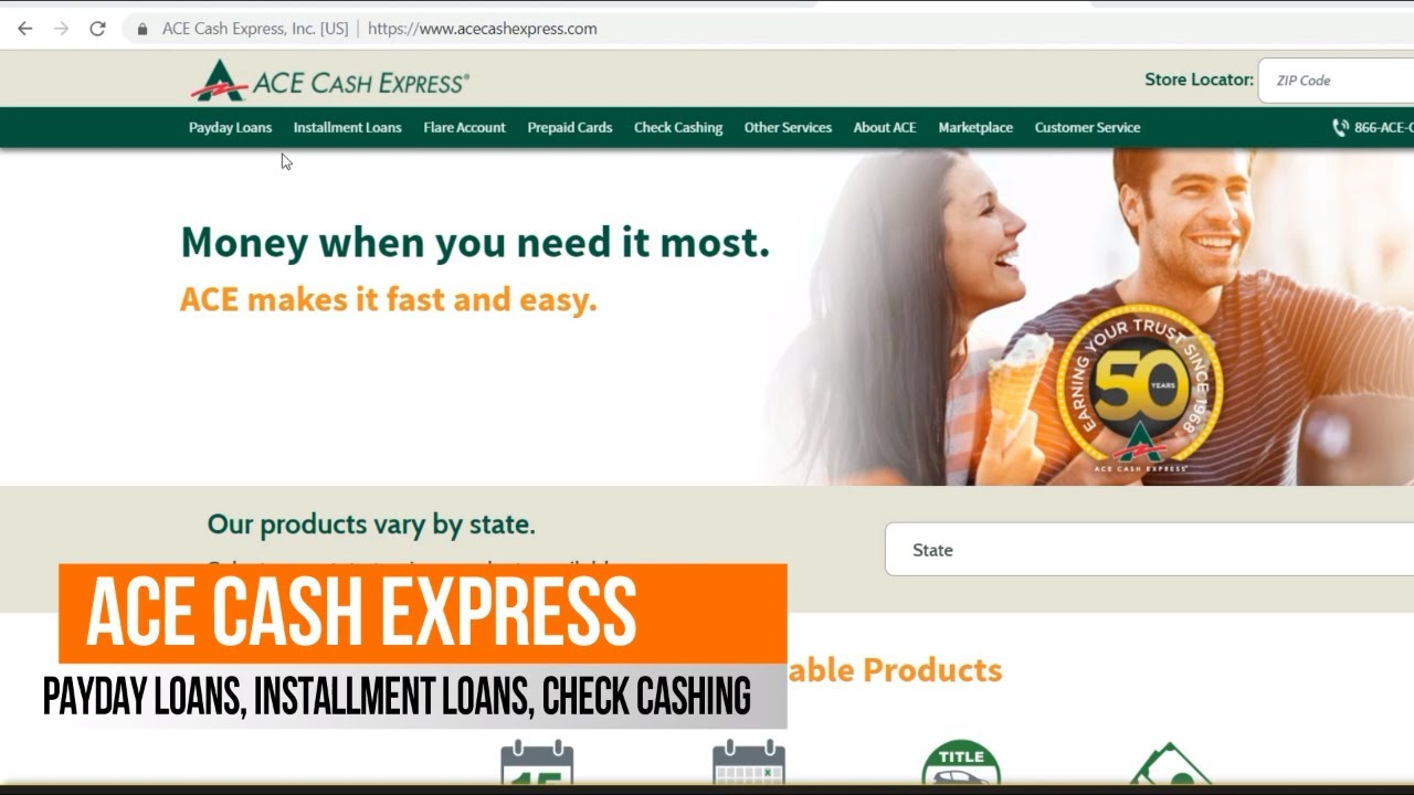 ace cash express installment loan promo code