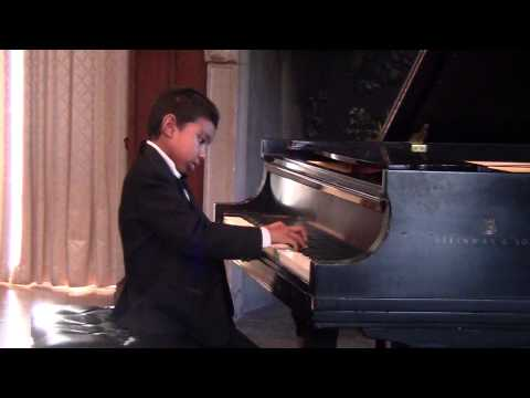 Eric Zhang Lawrence (age 7) Plays Piano Rondo Toccata By Kabalevsky