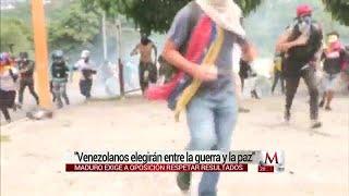 """Venezolanos elegirán entre """"la guerra y la paz"""": Maduro"""