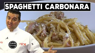 Watch now to see Cake Boss Buddy Valastro make a fast, easy, and delicious Italian classic, Spaghetti Carbonara. Click SHOW MORE for recipe. SUBSCRIBE: ...