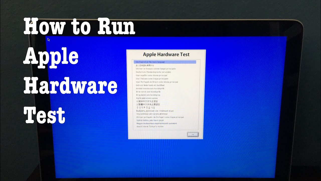How to run Apple Hardware Test on a Mac from Early 2013 and older