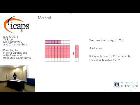 "ICAPS 2014: Nir Lipovetzky and Christina Burt on ""Planning for Mining Operations with Time and ..."""