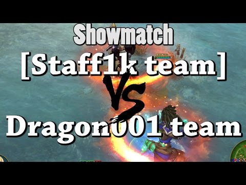 видео: [staff1k team] vs [dragon001 team]  ШОУМАТЧЕВЫЙ БОЙ! iogg&izzi prime world