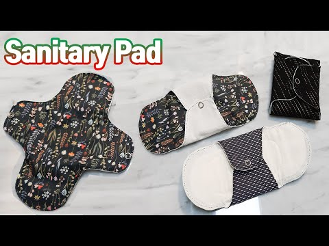 #305DIY 면생리대 만들기(소형,중형,대형,울트라 오버나이트형 도안첨부),sanitary pad sewing DIY tutorial