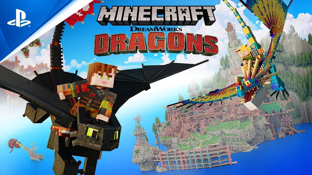 『Minecraft ヒックとドラゴン』ローンチトレイラー