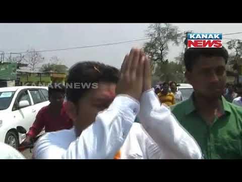 BJD's MLA Candidate Gets Grand Welcome In Patnagarh