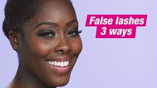 HOW TO | False Lashes 3 Ways | Superdrug