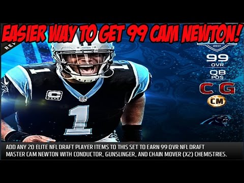 EASIER WAY TO GET 99 OVERALL DRAFT CAM NEWTON! NEW CAM NEWTON TRADE IN SET | MADDEN 17 ULTIMATE TEAM