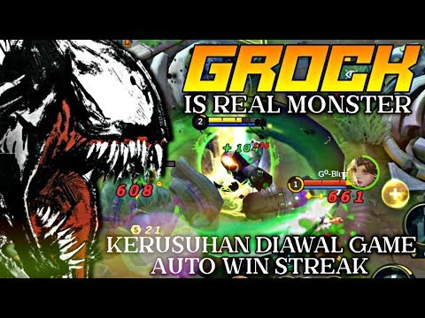 Grock Is Real Monster ! Membuat Kerusuhan Di Awal Game Bikin Formasi Kacau - Mobile Legends - 동영상