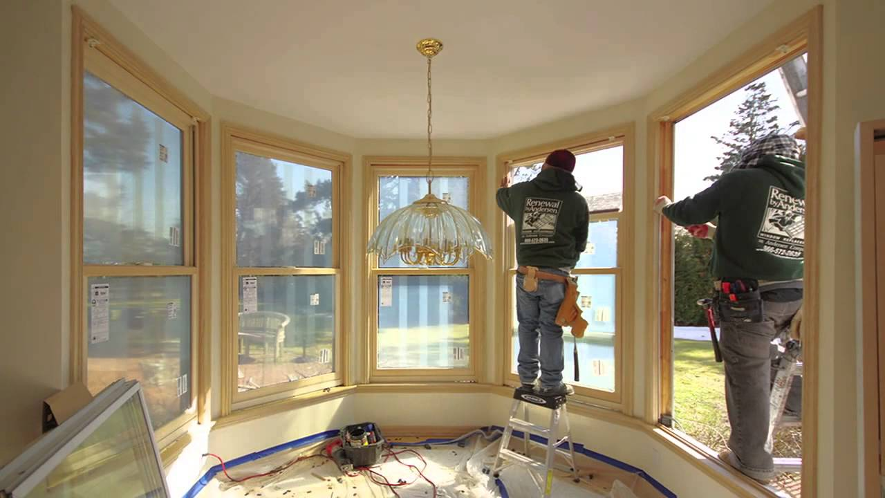 Large Double Hung Wood Windows Installation Timelapse