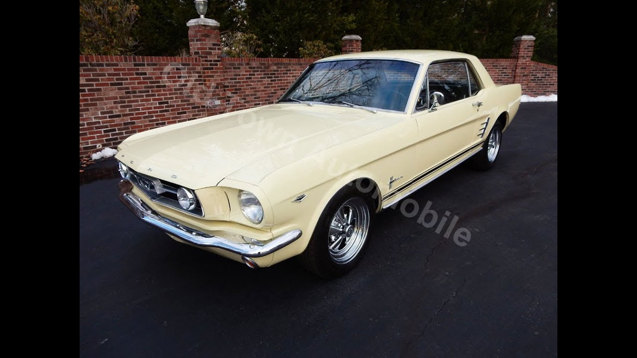 1966 Ford Mustang Coupe yellow, for sale Old Town Automobile in ...