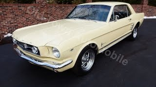 1966 Ford Mustang Coupe yellow, for sale Old Town Automobile in Maryland