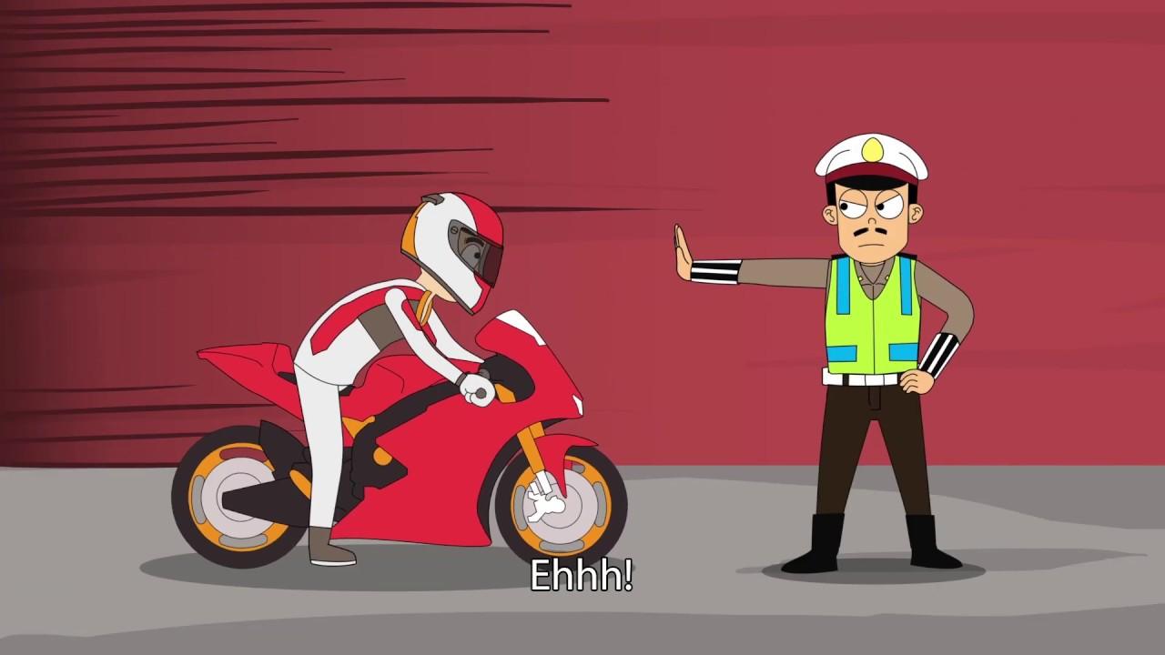 Kartun Lucu Kena Prank Polisi Lagi Pas Naik Motor – Marlo And Friends
