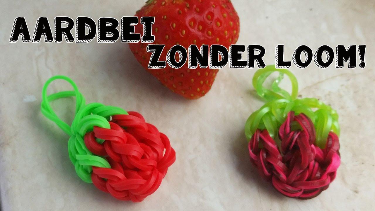 Rainbow Loom Aardbei Fruit Charm Nederlands Zonder Loom