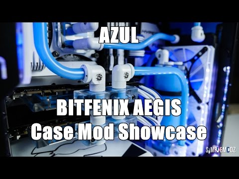 Bitfenix Aegis - AZUL Case Mod