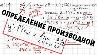 Производная. Часть 4. Определение. Геометрический и физический смысл.