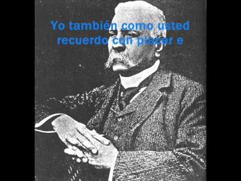 Mensaje de Voz Porfirio Diaz 1909 a Thomas Alva Edison